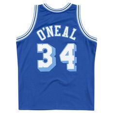 Los Angeles Lakers Shaquille O'Neal Mens 1996-97 Alternate Replica Swingman Jersey Blue S, , rebel_hi-res